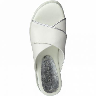 MARCO TOZZI  Nyári papucs 2-27212-26 197 WHITE COMB2