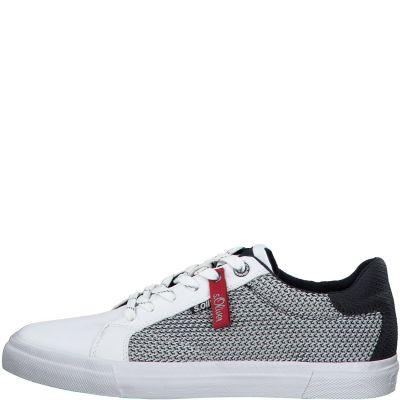 férfi vászon cipő S. Oliver 5-5-13641-24 100 WHITE2