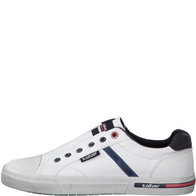 férfi vászon cipő S. Oliver 5-5-14603-24 100 WHITE2