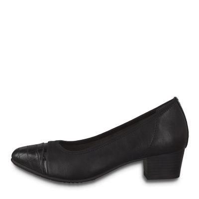 JANA női félcipő  8-22300-25 001 BLACK2