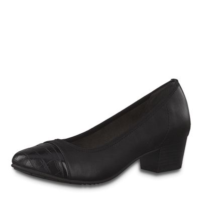 JANA női félcipő  8-22300-25 001 BLACK