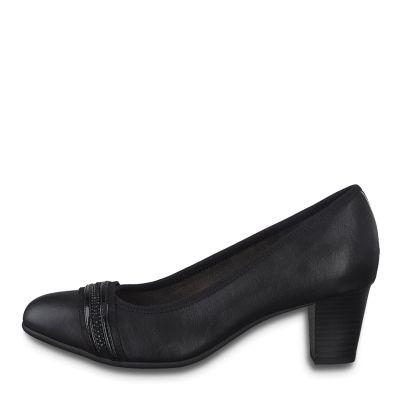 JANA női félcipő  8-22477-25 001 BLACK2
