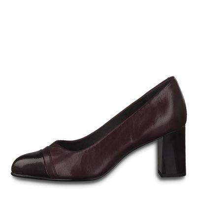 JANA női elegáns bőr cipő 8-22481-25 549 BORDEAUX2