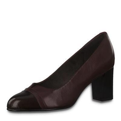 JANA női elegáns bőr cipő 8-22481-25 549 BORDEAUX