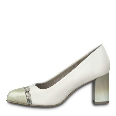 JANA női elegáns bőr cipő  8-22492-24 100 WHITE2