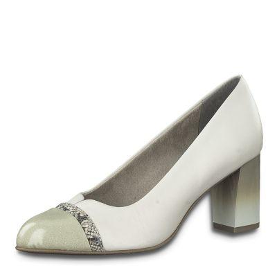 JANA női elegáns bőr cipő  8-22492-24 100 WHITE