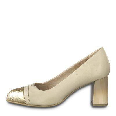 JANA női elegáns bőr cipő 8-22492-24  251 NUDE2