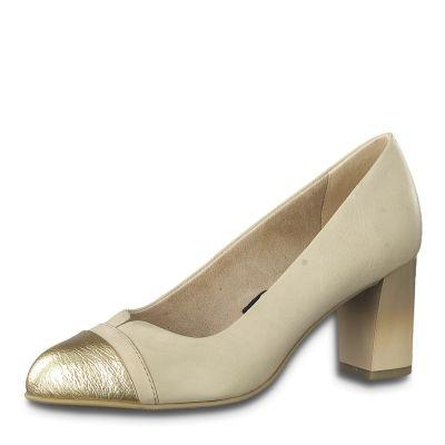 JANA női elegáns bőr cipő 8-22492-24  251 NUDE