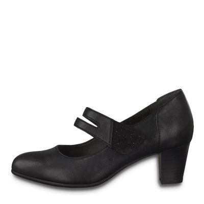 JANA női elegáns bőr cipő 8 8-24464-25  001 BLACK2