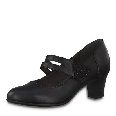 JANA női elegáns bőr cipő 8 8-24464-25  001 BLACK
