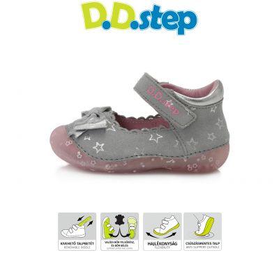 D.D.step bőr félcipő 015-641B GREY 19-24 méretben