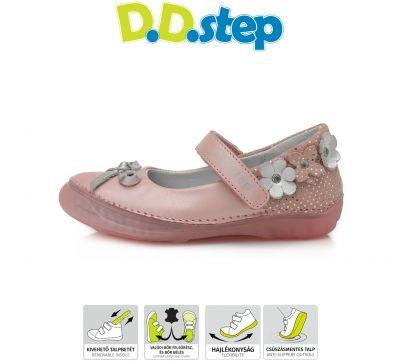 D.D.step bőr szandálcipő 046-228M PINK 25-30 méretben