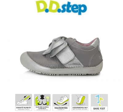 D.D.step bőr félcipő 063-254AL LIGHT GREY 31-36  méretben
