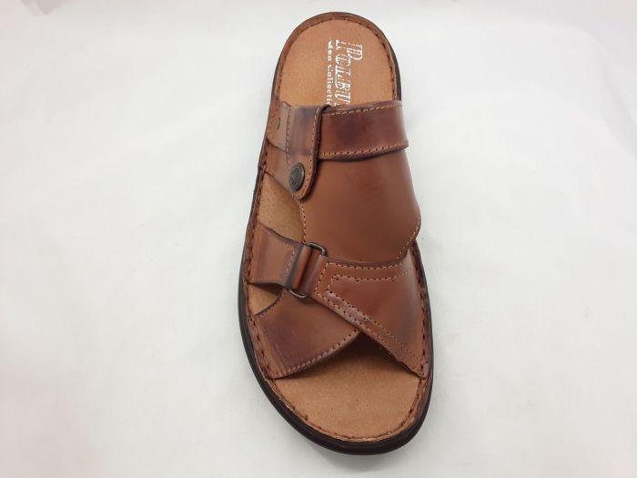 férfi utcai papucs  024 konyak barna AX large