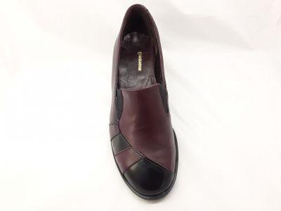 női zárt cipő 5888 bordó/bordó lakk2