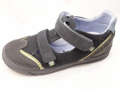 D.D.step bőr félcipő 040-438BL BLACK 31-36 méretben