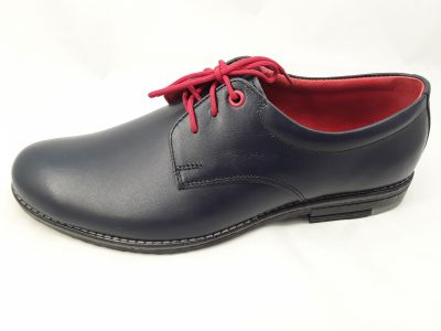 alkalmi férfi bőrcipő 129 sötétkék MINI