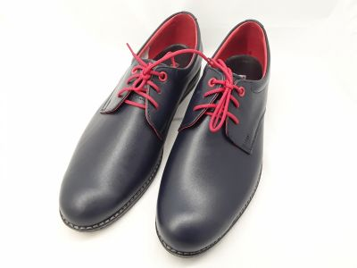 alkalmi férfi bőrcipő 129 sötétkék MINI2