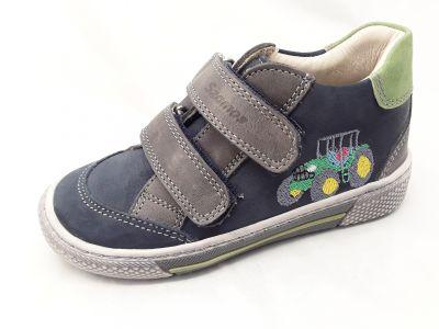 bőr félcipő 1473-201022 kék/zöld 2 tépős bokacipő 25-30 méretben