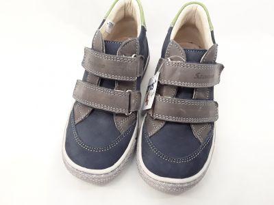 bőr félcipő 1473-201022 kék/zöld 2 tépős bokacipő 25-30 méretben2