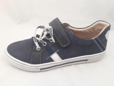 bőr félcipő ,6180-201514 kék/fehér fűzős félcipő 36-40 méretben