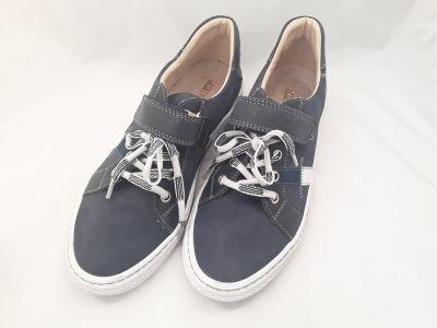 bőr félcipő ,6180-201514 kék/fehér fűzős félcipő 36-40 méretben2