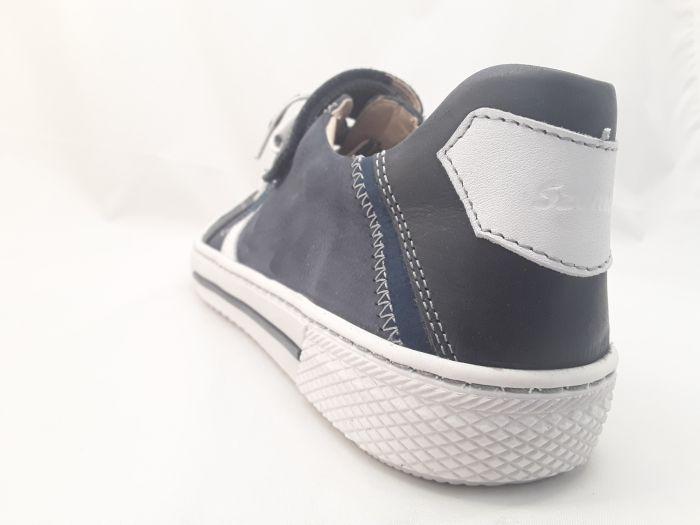 bőr félcipő ,6180-201514 kék/fehér fűzős félcipő 36-40 méretben large