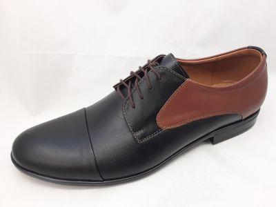 alkalmi férfi bőrcipő 096 CZARNY BRAZ box