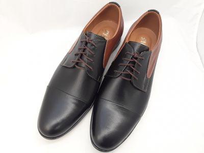 alkalmi férfi bőrcipő 096 CZARNY BRAZ box2