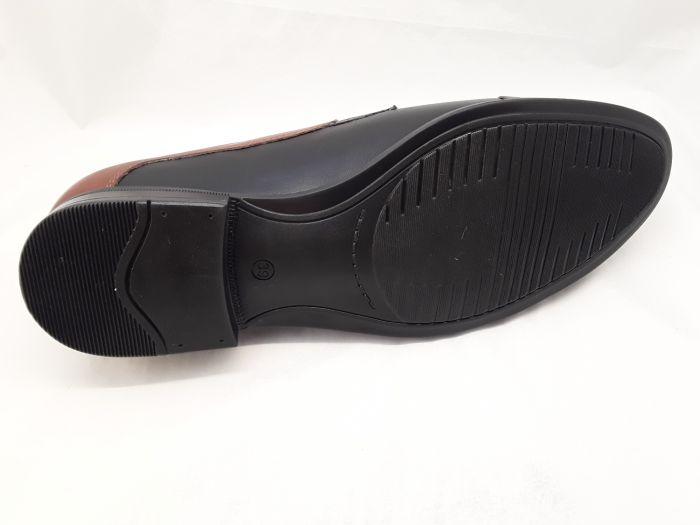 alkalmi férfi bőrcipő 096 CZARNY BRAZ box large