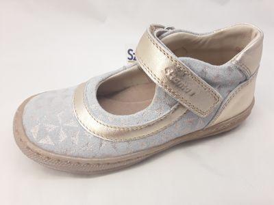 bőr félcipő 3242-502362 arany  1 tépős balerina cipő 25-30  méretben