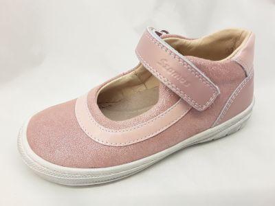 bőr félcipő 3242-402462 rózsaszín  1 tépős balerinacipő 25-30 méreteben