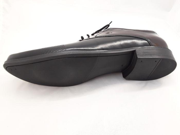 alkalmi férfi bőrcipő 064 CZARNY/BORDÓ  large