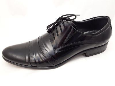 alkalmi férfi bőrcipő 250 CZARNY LAKIER