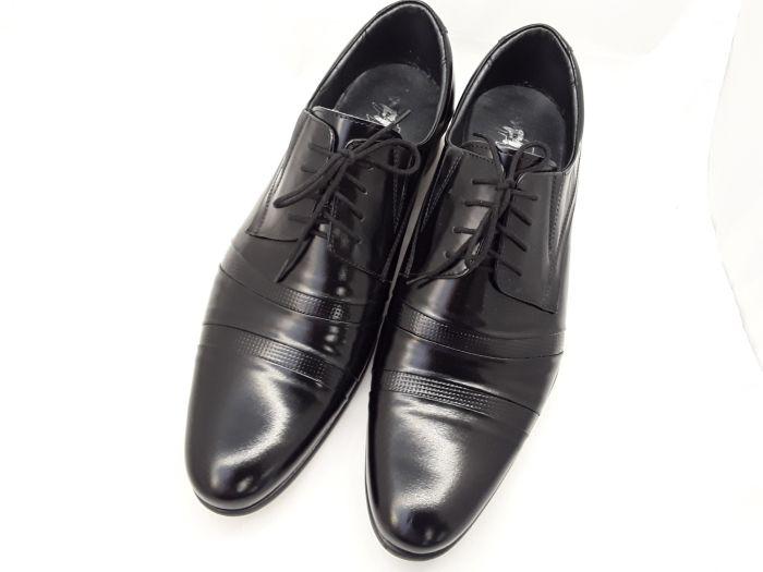 alkalmi férfi bőrcipő 250 CZARNY LAKIER  large