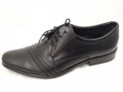 alkalmi férfi bőrcipő 420 CZARNY