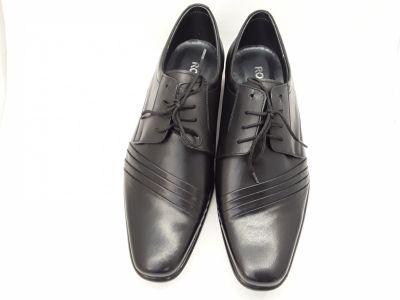 alkalmi férfi bőrcipő 420 CZARNY 2