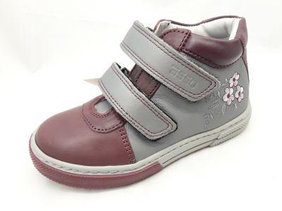 6018-001 ROCK bordó/szürke 2 tépős boka cipő 25-30 méretben
