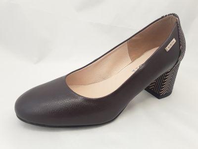 női elegáns bőr cipő 1997 BRAZ-V2N+S66 csokibarna