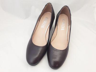 női elegáns bőr cipő 1997 BRAZ-V2N+S66 csokibarna2