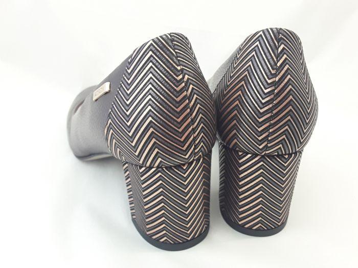 női elegáns bőr cipő 1997 BRAZ-V2N+S66 csokibarna large