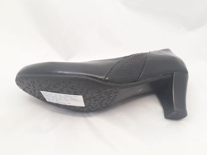 női félcipő 8031 fekete/kígyó/lakk large