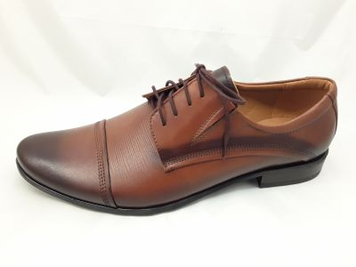 alkalmi férfi bőrcipő 075 BRAZ /barna/