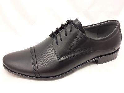 alkalmi férfi bőrcipő 075 fekete