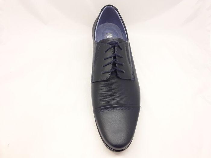 alkalmi férfi bőrcipő 075 GRÁNÁT /sötétkék/ large