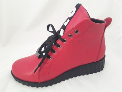 34-217 piros bokacipő