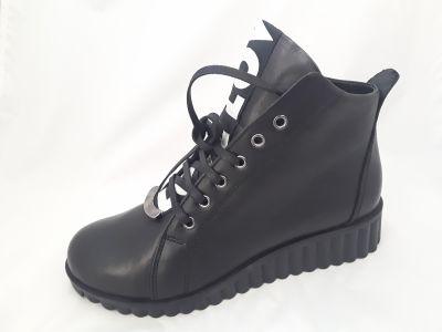 34-217 fekete bokacipő