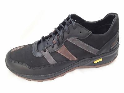 férfi bőr félcipő SAL-04 MARCO fekete