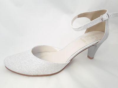 mennyasszony cipő LAURA NITKA SREBNA