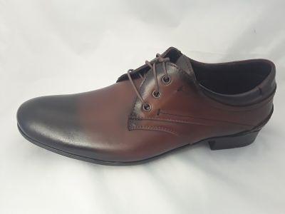 alkalmi férfi bőrcipő 633/131 AM  BARNA ANTIK